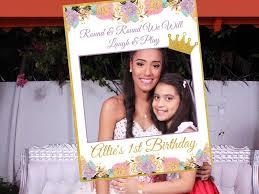 large princess first birthday photo booth prop frame girl birthday party decoration crown tiara princess royal 1st birthday 10011196