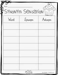 FREE: Synonym Sensation! FREE vocabulary product. TeacherKarma.com ...