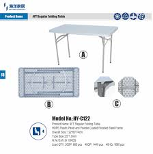plastic tisch f folding table seater mini table