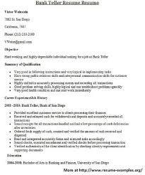amazing cover letter example the best sample bank teller resume cover letter