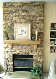 stone veneer fireplace cost stacked to install how surround firep