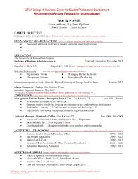 Student Resume Example Custom Undergraduate Student Cv Example Resume Template For Students 48 48