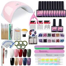 Saint Acior Gel Nail Polish Starter Kit With 36w Nail Light Manicure Tools Uv Gel Polish 10 Colors
