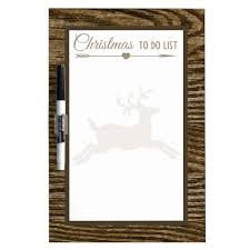 Christmas To Do List Brown Rustic Reindeer Dry Erase Board Zazzle Com
