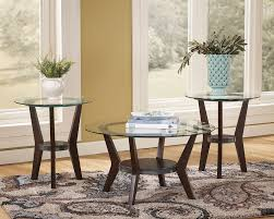 t210 fantell glass coffee and end tables