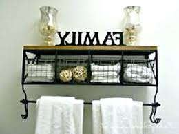 wall shelves with baskets black metal amp wood shelf 8 hooks chic wire wooden ladder