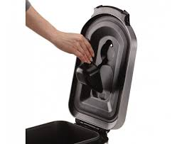 outdoor trash can with wheels and attached lid. simplehuman x large pet food bin fingerprint proof brushed garbage cans with attached lids and wheels outdoor trash can lid