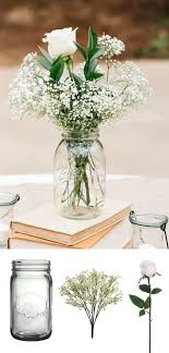 How to make affordable wedding centerpieces: Simply place your favorite  flowers in a glass vases or in mason jars.