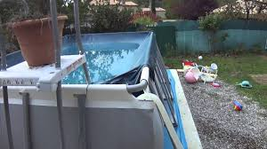 Comment Vider Sa Piscine De 13100 Litres Youtube Enterrer Piscine Hors Sol Intex