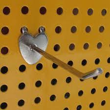 Wall Heartshaped Hook Hole Board Iron Metal Pegboard Display Hook Jewelry Display Hook Hanger Store Supermarket Supplies 15cm The Best Photo Jewelry Vidhayaksansadorg Heart Shaped Hook Hole Board Iron Metal Pegboard Display Hook