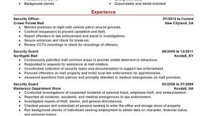 Security Guard Resume Examples Security Guard Resume Examples Created By Pros