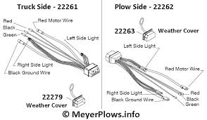 meyer plow help com meyer plow wiring identification information Meyers Snow Plow Lights Wiring Diagram then, it was clear that the one piece plug was going to be standard, so meyer made the truck side one harness (22610), and since the touchpad was now meyer snow plow lights wiring diagram