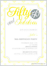 50th birthday invitation sle free birthday invitation templates template free 50th birthday invitation wording sles