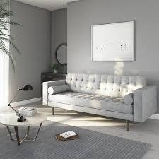 elba light grey 3 seater sofa with