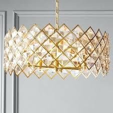 diamond crystal chandelier brass made in spain