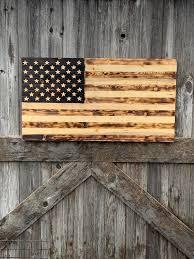 wood american flag rustic american flag