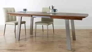 modern kitchen table. Extending Walnut Dining Table Brushed Metal 8 Seater With Regard To Modern Inspirations 7 Kitchen