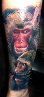 Monkey Tattoos The Connection Between Man And Subconscious Tattoo