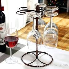 glass rack for bar wine kitchen cup hanging holder metal goblet display stand drinking glasses stemware glass rack for bar