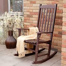 furniture c coast indooroutdoor mission slat rocking chair dark brown along with amusing ture wooden outdoor