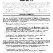 B2b Sales Resumes Resume Templates For Outside Sales Software Sales Resume Example