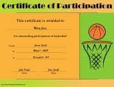 Sports Certificates Free Printable Certificates