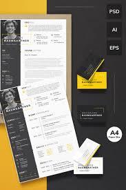 Designer Resume Template Maximilian Baumgartner Graphic Designer Resume Template 24 14