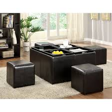 furniture of america miller storage ottoman with four nesting hammary cubics coffee table nested ottomans stools and serving trays 55cb1c2b 9d