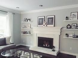 floating shelves fireplace delightful modern white fireplace interesting ideas