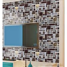 brown mosaic tile crystal glass tile 304 stainless steel tile metal tiles wall backsplashes pattern tiles