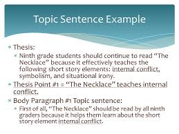 remember that a thesis statement needs to have these five key  8