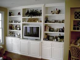 ... Wall Units, Mesmerizing Built In Wall Display Case Recessed Display  Case White Shelves Cabinet With ...