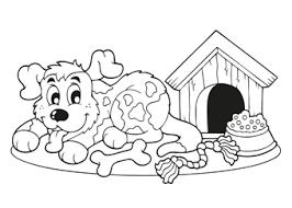 Kleurplaat Hond 64 Gratis Allerleukste Honden Kleurplaten