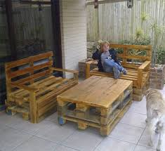 danny in durban turned raw wood pallets into outdoor garden furniture for his home wood pallets that are manufactured locally for deliveries within south