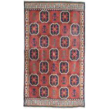 large scandinavian modern wool flat weave rollakan rug with geometric pattern