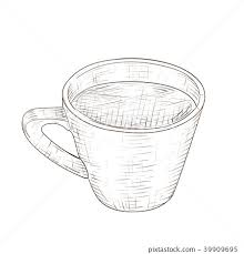 Cup of coffee. Hand drawn sketch - Stock Illustration [39909695] - PIXTA
