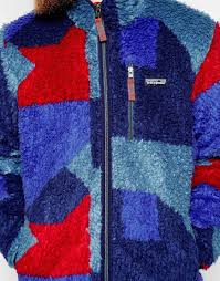 Patagonia Patterned Fleece Adorable Lyst Patagonia Retro X Patterned Fleece In Blue For Men