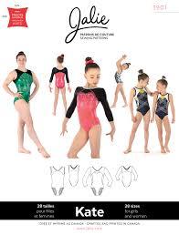 prevnext sewing pattern for gymnastics leotards