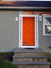 Orange front door Mid Century Bright Orange Cottagemade Front Doors Colors