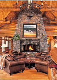 40 rustic country cabins with a stone fireplace for a romantic get away 39