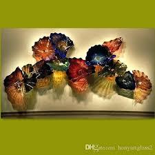 blown glass wall art led wall plates multi color handmade blown glass wall sconces living room blown glass wall art