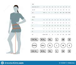Size Chart Women Size Chart For Women Stock Vector Illustration Of Body