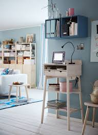 office shelves ikea. A Corner In The Livingroom With Standing Desk Where You Can Read Your E- Office Shelves Ikea D
