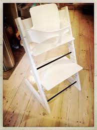 white stokke tripp trapp high chair