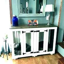 dog crate furniture diy kennel end table side crates pet top