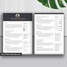 2 Page Cv Template Professional Editable Resume Template 2019 Graduate Cv Simple Resume Template Word Best Resume Cover Letter Reference Instant Download Tiffany