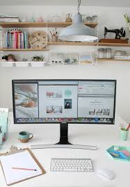 geeks home office workspace. samsung 34 inch curved monitor apartment apothecary a screen just seems so much more ahead of its time sure to lift any home office u0027 geeks workspace t