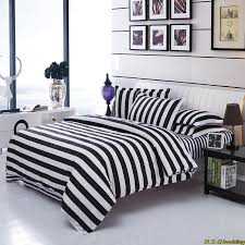 new black white striped zebra king queen full size bedding set comforter sheet duvet cover linen home textile n19 in bedding sets from home garden on