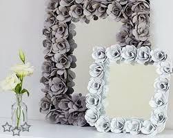 diy mirror frame. Fine Mirror DIY Flower Mirror Frame From Egg Carton Inside Diy W