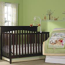 Bedroom:Cute Vintage Baby Room Design Style Vintage Minimalist Baby Room  With Green Bedding And